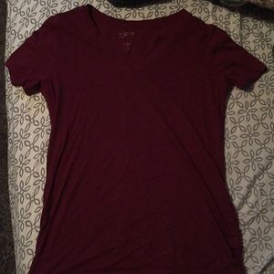 plain maroon shirt